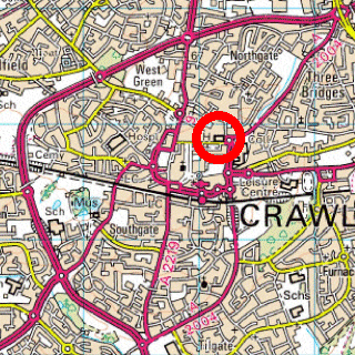Crawley Town Hall Map